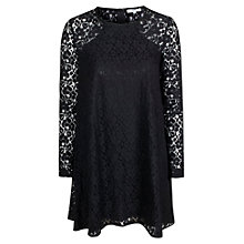 Buy True Decadence Lace Layer Swing Dress, Black Online at johnlewis.com