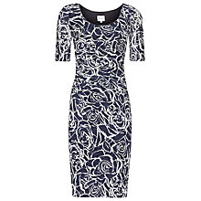 Buy Reiss Floral Lace Cindy Dress, Indigo Online at johnlewis.com