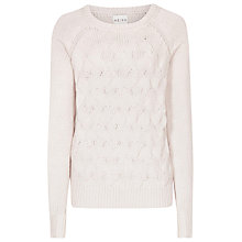 Buy Reiss Chunky Cable Knit Theola Jumper, Coral Online at johnlewis.com