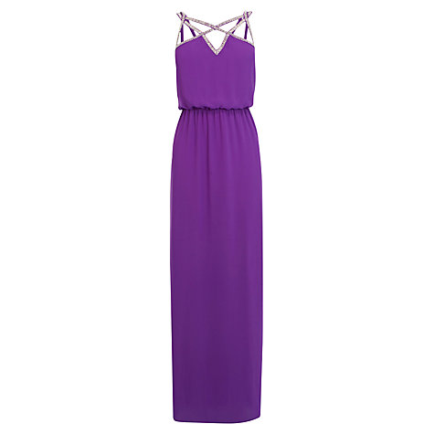 Buy Coast Ezra Dress, Purple Online at johnlewis.com