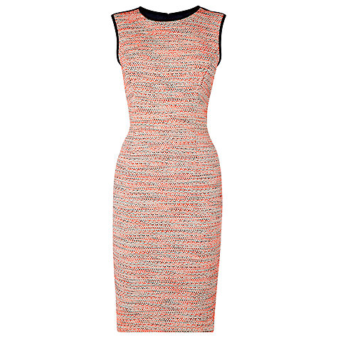 Buy L.K. Bennett Jacquard Madrid Dress, Orange Online at johnlewis.com