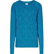 Buy Reiss Chunky Cable Knit Theola Jumper, Blue Online at johnlewis.com