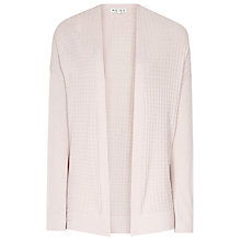Buy Reiss Waffle Knit Porty Cardigan,  Faint Rose Online at johnlewis.com
