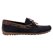 Buy Geox Snake Driving Moccasins, Dark Navy/Ebony Online at johnlewis.com