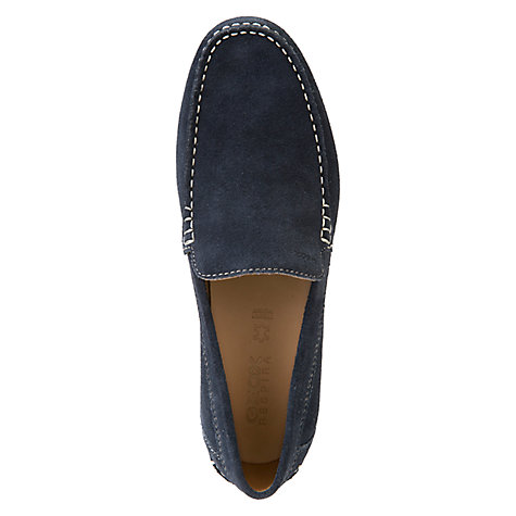 Buy Geox Simon Suede Moccasins, Blue Online at johnlewis.com