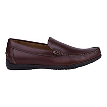 Buy Geox Simon Leather Moccasins, Brown Online at johnlewis.com
