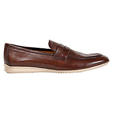 Buy Geox Gilles Penny Loafers, Brown Online at johnlewis.com
