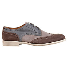 Buy Geox Journey Wingtip Brogues, Ebony/Grey Online at johnlewis.com