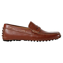 Buy Geox Soul Leather Driving Moccasins, Light Brown Online at johnlewis.com