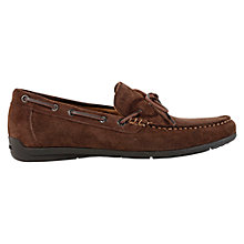 Buy Geox Simon Leather Moccasin Loafers, Chestnut Online at johnlewis.com