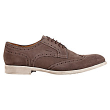 Buy Geox Journey Suede Wingtip Brogues, Ebony Online at johnlewis.com