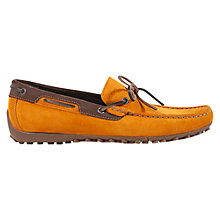 Buy Geox Snake Driving Moccasins, Ochre/Ebony Online at johnlewis.com