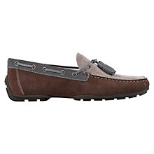 Buy Geox Monet  Suede Moccasins, Ebony/Taupe Online at johnlewis.com