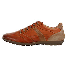 Buy Geox Symbol Leather Trainers, Whisky Online at johnlewis.com