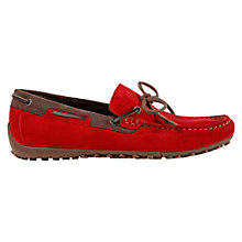 Buy Geox Snake Driving Moccasins, Ruby/Ebony Online at johnlewis.com