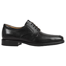 Buy Geox Federico Apron Toe Derby Shoes, Black Online at johnlewis.com