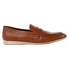 Buy Geox Gilles Leather Penny Loafers, Caramel Online at johnlewis.com