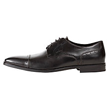 Buy Geox New Life Toe Cap Derby Shoes, Black Online at johnlewis.com