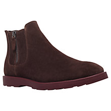 Buy Kg by Kurt Geiger Herman Suede Chelsea Boots, Brown Online at johnlewis.com