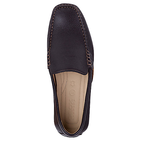 Buy Geox Leather Snake Moccasins, Coffee Online at johnlewis.com