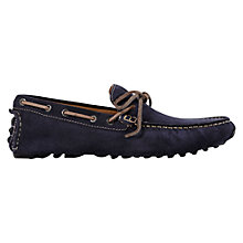 Buy Geox Soul Suede Driving Moccasins, Navy Online at johnlewis.com