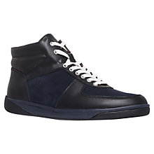 Buy KG by Kurt Geiger Parker Hi-Top Trainers, Navy Online at johnlewis.com