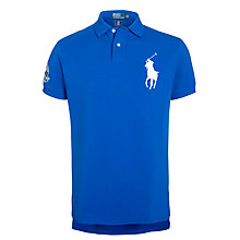 Buy Polo Ralph Lauren Custom Wimbledon Polo Top, New Sapphire Online at johnlewis.com