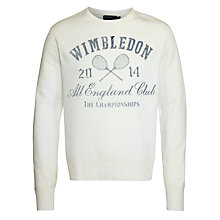 Buy Polo Ralph Lauren Wimbledon Sweater, Deckwash White Online at johnlewis.com