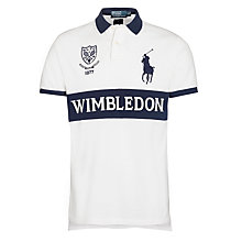 Buy Polo Ralph Lauren Custom Wimbledon Polo Shirt, White/Navy Online at johnlewis.com