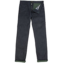 Buy Ted Baker Slilsoe Slim Fit Jeans, Indigo/Green Online at johnlewis.com