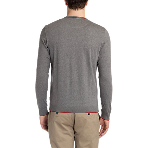 Buy Ted Baker Paulbur Crew Neck Jersey Top, Grey Online at johnlewis.com