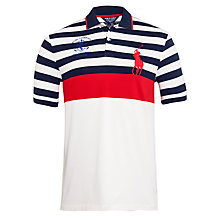 Buy Polo Ralph Lauren Custom Fit Polo Top, Navy/White/Red Online at johnlewis.com