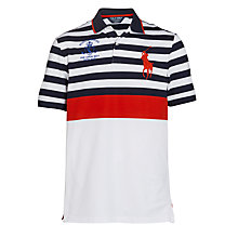Buy Polo Ralph Lauren The Open 2014 Royal Liverpool Polo Shirt, Navy/White/Red Online at johnlewis.com