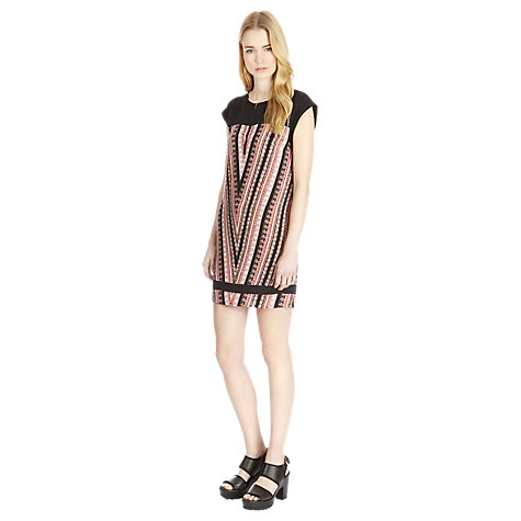 Buy Warehouse Chevron Stripe Shift Dress, Multi Online at johnlewis.com