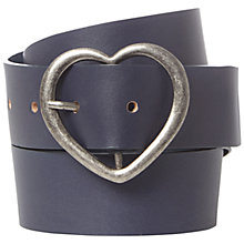Buy White Stuff Heart Buckle Belt, Atlantic Blue Online at johnlewis.com