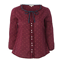 Buy White Stuff Brimstone Spot Top, Beetroot Online at johnlewis.com