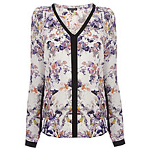Buy Warehouse Pretty Bird Floral Blouse, Multi Online at johnlewis.com