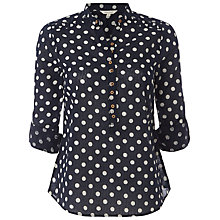 Buy White Stuff Polka Dot Shirt, Dark Atlantic Online at johnlewis.com