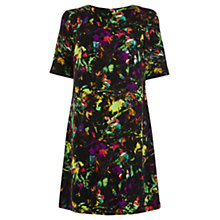 Buy Warehouse Tropical Fluro Print Shift Dress, Multi Online at johnlewis.com