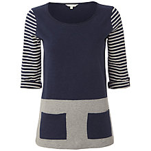 Buy White Stuff Gammel Stripe Top, Dark Atlantic Online at johnlewis.com