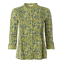 Buy White Stuff Flutter Floral Print Shirt, Avocado Online at johnlewis.com