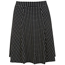Buy Miss Selfridge Spot Flippy Skirt, Black Online at johnlewis.com