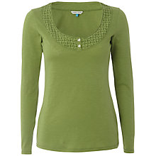 Buy White Stuff Long Sleeve Daisy Chain Top, Avocado Online at johnlewis.com