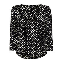 Buy Warehouse Spotty Side Zip Top, Multi Online at johnlewis.com