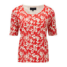 Buy Viyella Beaded Linen Top, Flamenco Online at johnlewis.com