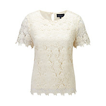 Buy Viyella Lace Top, Cream Online at johnlewis.com
