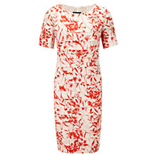 Buy Viyella Floral Pleated Dress, Red/Cream Online at johnlewis.com