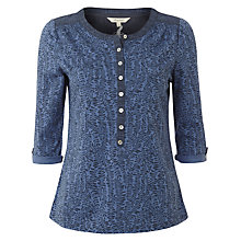 Buy White Stuff Shetland Feather Print Shirt, River Blue Online at johnlewis.com