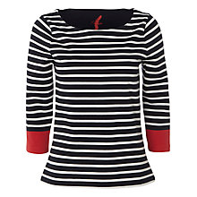 Buy White Stuff Mercia Colour Block T-Shirt, Navy Online at johnlewis.com