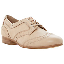 Buy Dune Linford Leather Brogues, Pink Online at johnlewis.com